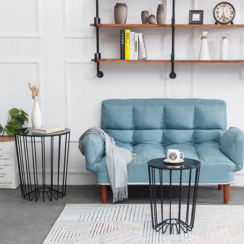 Nordic Style Coffee Table Modern Minimalist Household Small Apartment  Living Room Side Round Simple Wrought Iron Tea Table - Buy Wrought Iron  Bedside ...