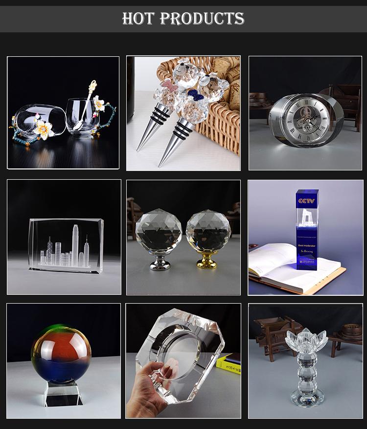 Delicato ed elegante CST-BALL41 palla di vetro trasparente K9 OEM cubo di vetro ornamenti sfera di cristallo