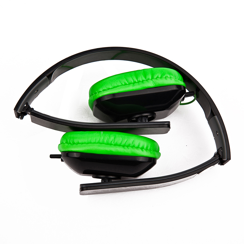 Wholesale factory price music fun cheap stereo fashion cool design cheap PU foldable headsets