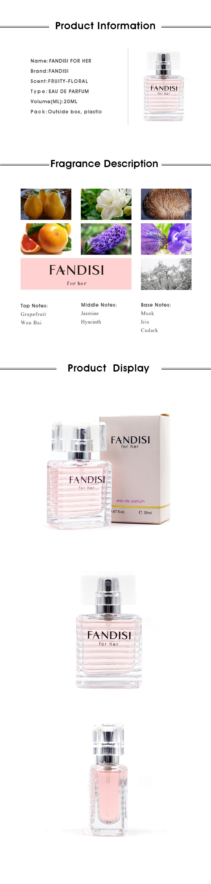 Wholesale long lasting brand smell perfume for lady