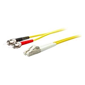 """Addon Fiber Optic Simplex Patch Network Cable . Fiber Optic For Network Device . 6.56 Ft . 1 X St Male Network . 1 X Lc Male Network . Yellow """"Product Type: Hardware Connectivity/Connector Cables"""""""