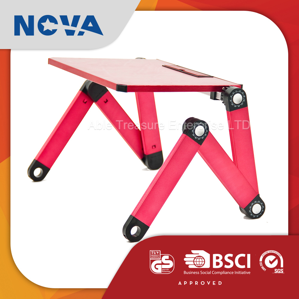Wholesale Portable Metal Laptop Foldable Table , Computer desk