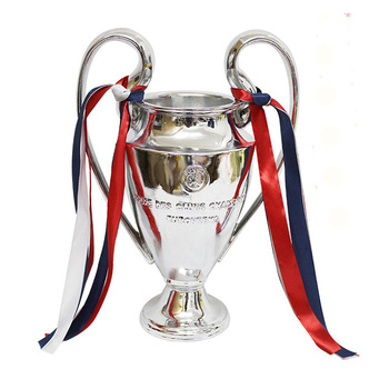 2018 Champions League Trophy Soccer Fans for Collections Metal Silver Color