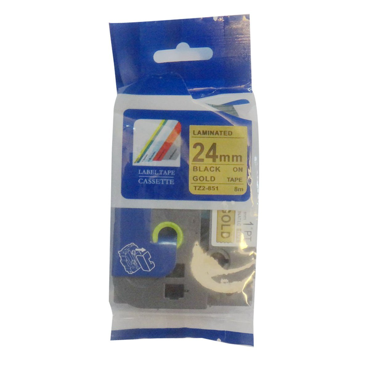 QPMY 2 Pack Compatible for Brother P-Touch Laminated Tze TZ Label Tape Cartridge 24mm x 8m TZe-155 White on Clear