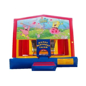 Baby used small size inflatable bouncer inflatable animals baby jumping bouncer cube castle