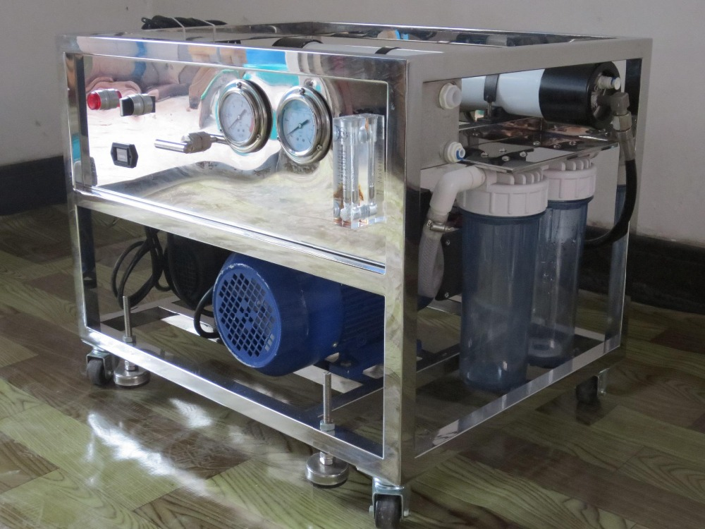 Solar Water Desalination System For Data Acquisition System : Portable ro equipment solar seawater desalination system