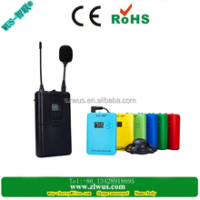Popular colorful long working distance wireless audio tour guide system,digital translator for several languages WUS069RC