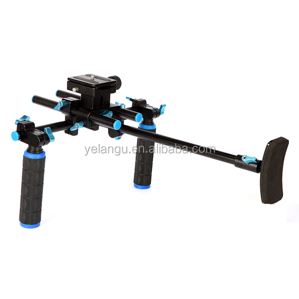 YELANGU Video DSLR Camera Handle Shoulder Rig With Quick Release Plate