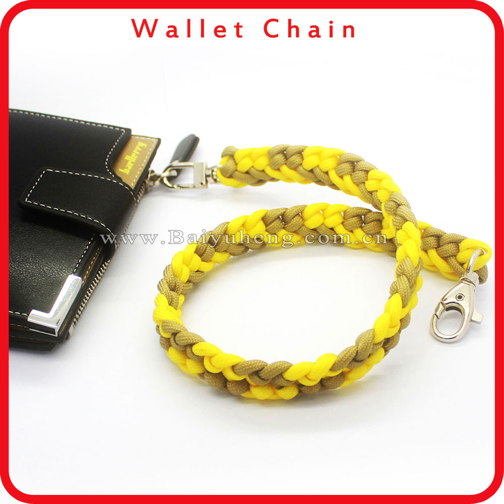 wallet key chain men on chain paracord