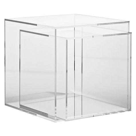 Ice Clear Acrylic Cube Table Nest Of 2 Tables - Buy Acrylic Cube Table,Cube  Table,Nesting Table Product on Alibaba.com