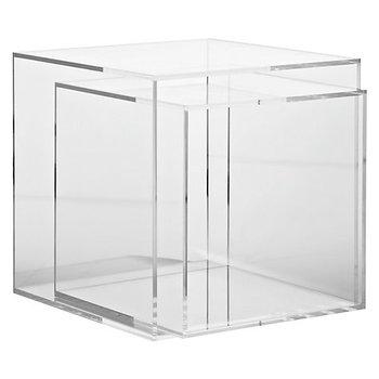 Merveilleux Ice Clear Acrylic Cube Table Nest Of 2 Tables