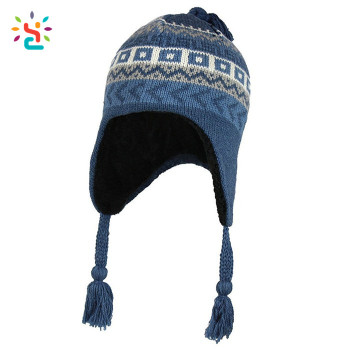 Custom earflap beanie ski hat free knit pattern for hat earflaps tassel  beanie man women winter ceffff7e97