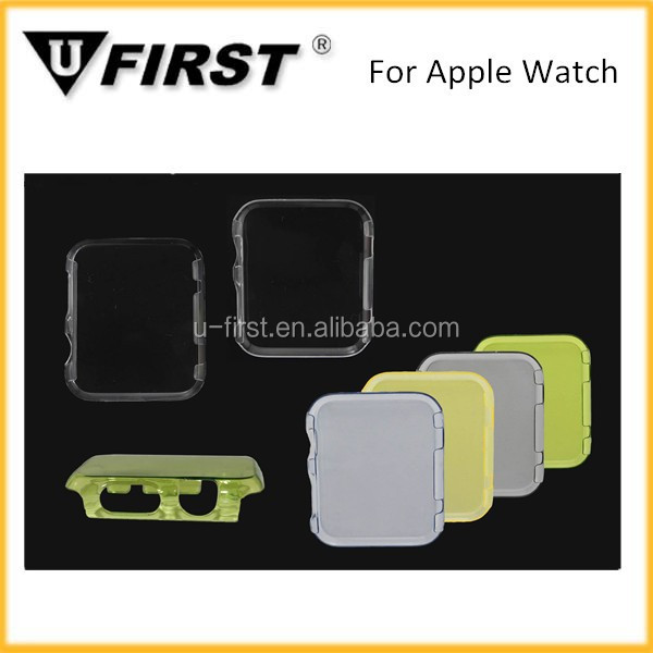 Clear PC case for iwatch , hard protect cover for apple watch