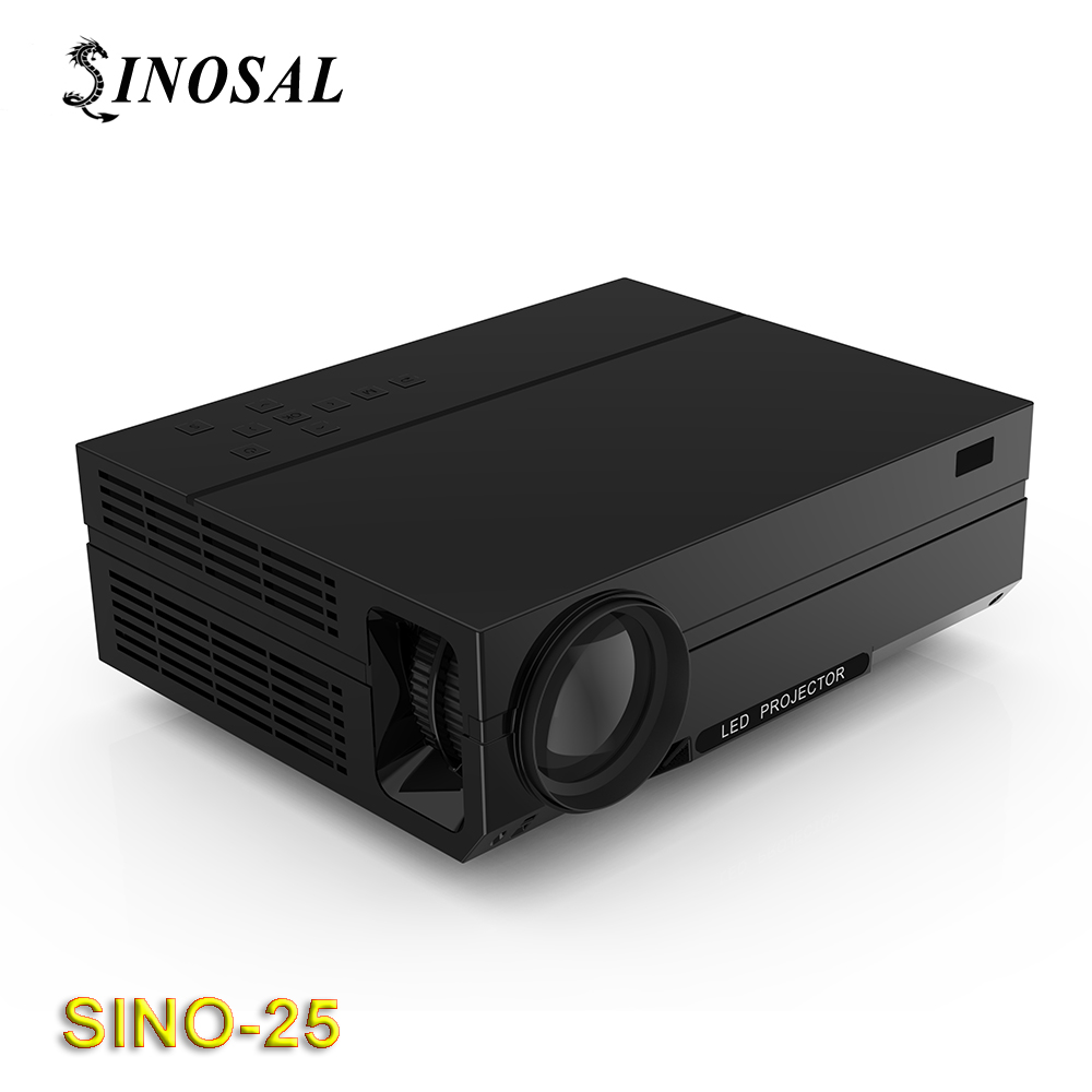 SINOSAL SINO-25 3600 lumens 1280*800 LCD led home theater projector full hd black