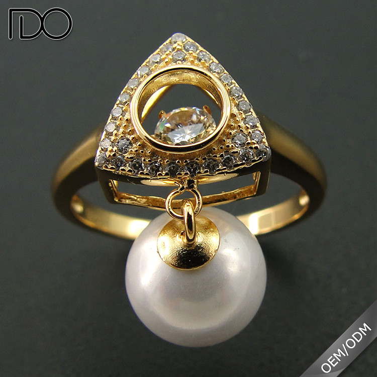 China professional manufacturer supply dancing diamond ring jewelry