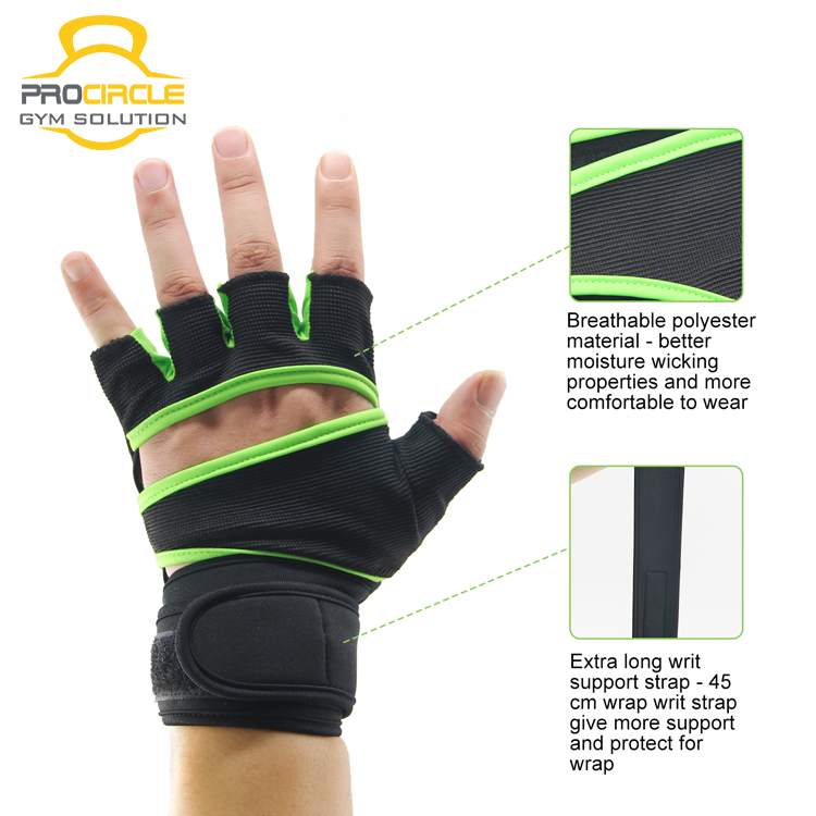 Breathable Anti-Slip Sport Cycling Half Finger Gloves/Fingerless Bike Riding Gloves