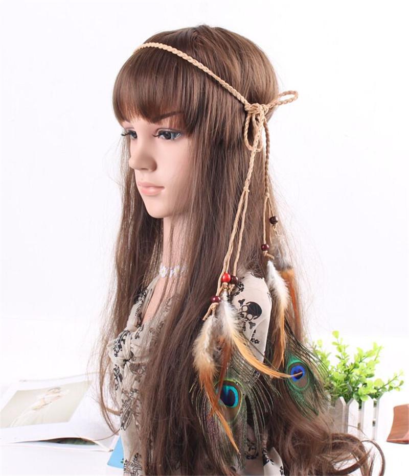 Fancy Tribal Native American Cheap Flapper Feather Boho Headband ... 2ce6dc28a34