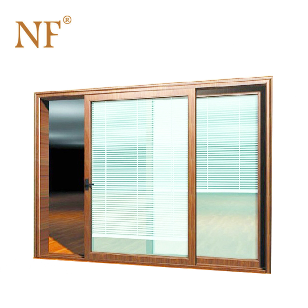 Wood Aluminium Frame Double Glass Sliding Patio Windows Doors With Mag China Windows And Doors Manufacturers Association
