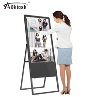 32 43 49 55inch floor stand kiosk lcd touch screen board advertising equipment