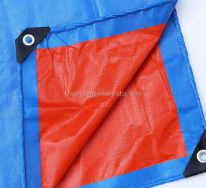 factory made to order stripe PE Tarpaulin for covering