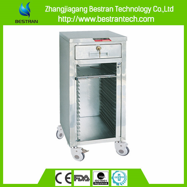 China Supplier BT-CHY004 Easy clean and move stainless steel Patient record medical trolleys document trolley