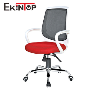 White modern plastic chair medium back swivel chair computer plastic chair