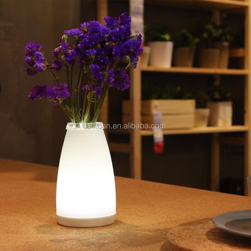 2016 Hot selling attractive beutiful LED lighted flower Pots for outdoor indoor garden