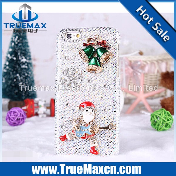 Christmas Carnival Mobile Phone Case for iPhone 5 5C 5S, for iPhone 5 5C 5S Flash Powder Post Diamonds Case