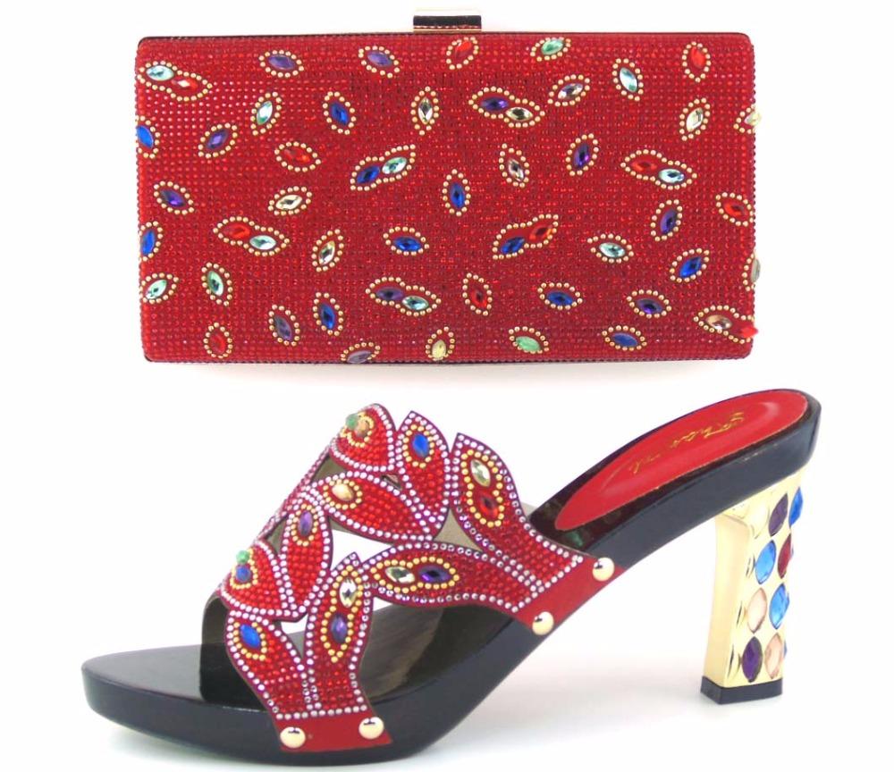 2f3e523c7c9adc ... Nouveau Design Africain Chaussures Et les Sacs Assortis Italien  Chaussures Et sac Ensemble Femmes Pompes Italie