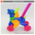 Hot sale plastic cartoon deer battery operated bubble gun bubble machine cart toy