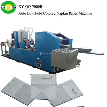 Automatic Low Folded Napkin Paper Making Machine