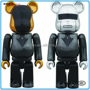 Custom Bearbrick Kidrobot figure toy/wholesale Series Metallic figure toy/ICTI factory custom plastic Bearbrick toy