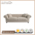 single seat French Traditional Fabric sofa Button Tufted Upholstery Linen Sofa