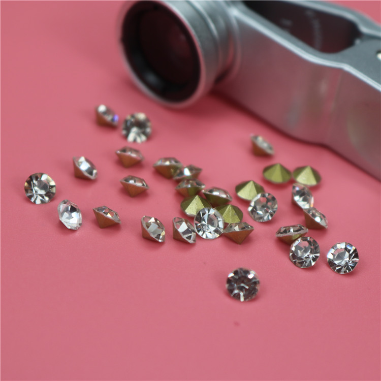 Top quality Wholesale ss0 1mm clear loose point back crystal rhinestones strass diamond for shoe decoration