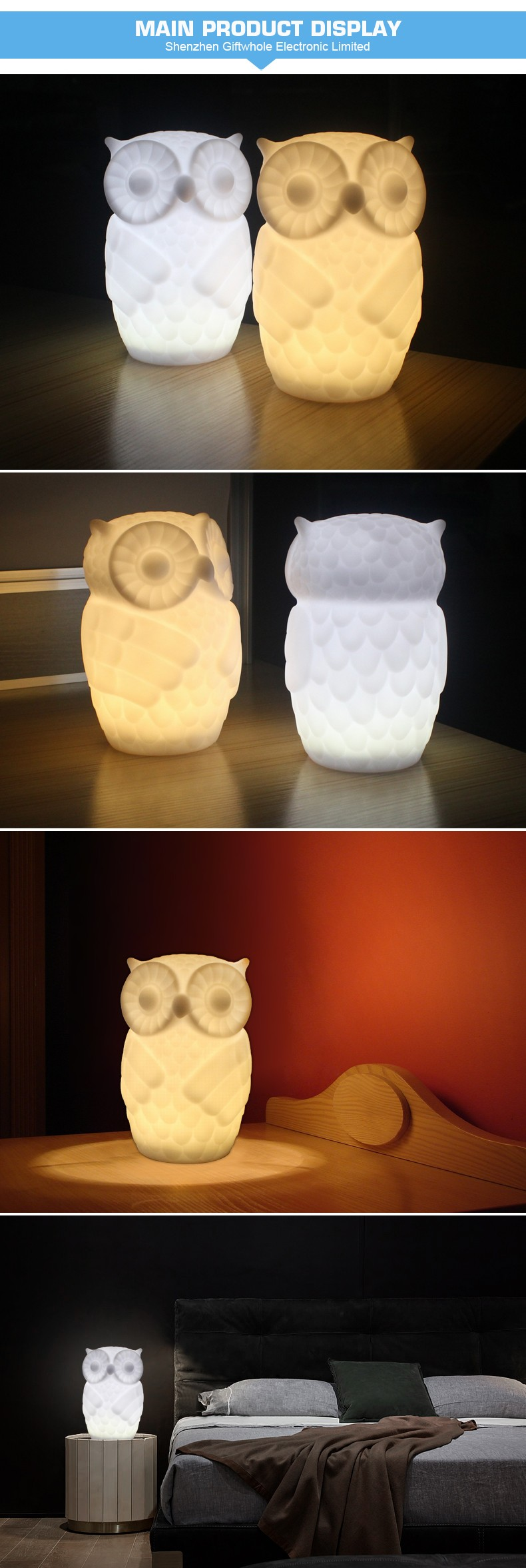 Promotion LED animal shape night lamp for children