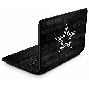 a5e4c18b46c27a Get Quotations · NFL Dallas Cowboys 15.6 in 15-d038dx Skin - Dallas Cowboys  Black & White Vinyl