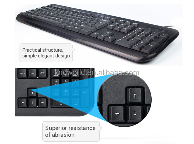 hot selling china OEM factury membrane waterproof wired keyboard for hp g72