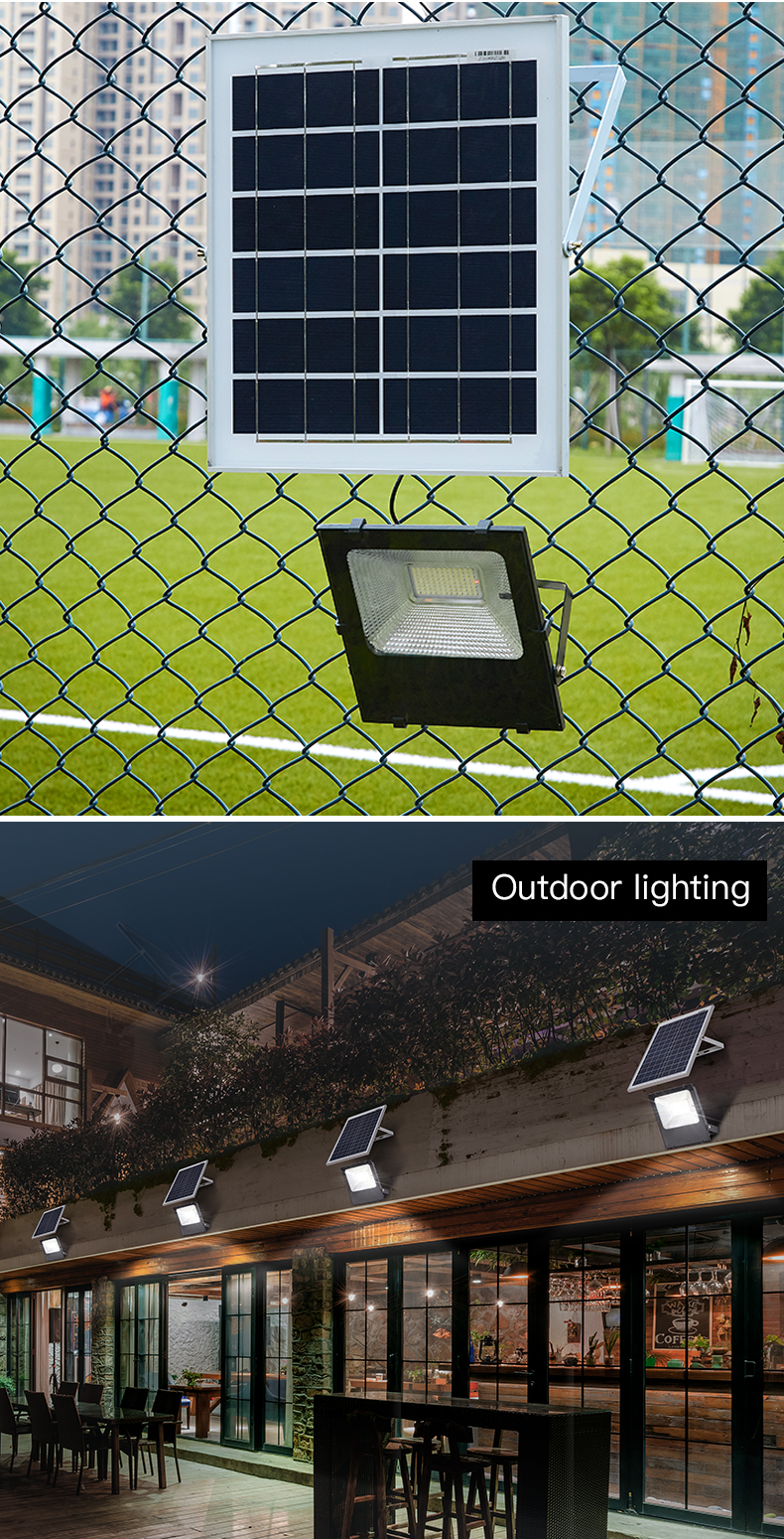 HIGH CLASS Hot selling new black aluminum playground 20w 30w 50w 100w solar led flood light