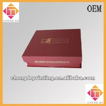 special paper cigarettes gift box with foam and silk cloth insert