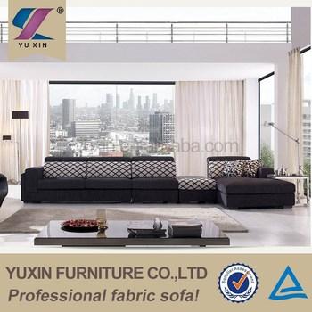 Modern Mobile Home Furniture Design Fabric Sectional Sofa