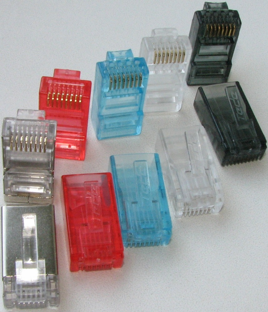 factory supply 6p2c 6p4c 6p6c 8p8c RJ45 RJ11 Connector