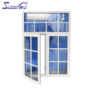 Aluminium Florida building code anti theft casement window with colonial bar