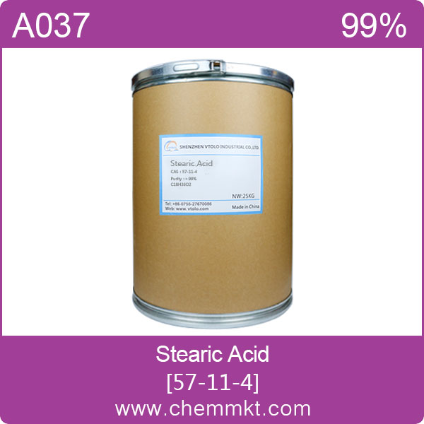 Chemicals raw material Stearic acid CAS NO.57-11-4