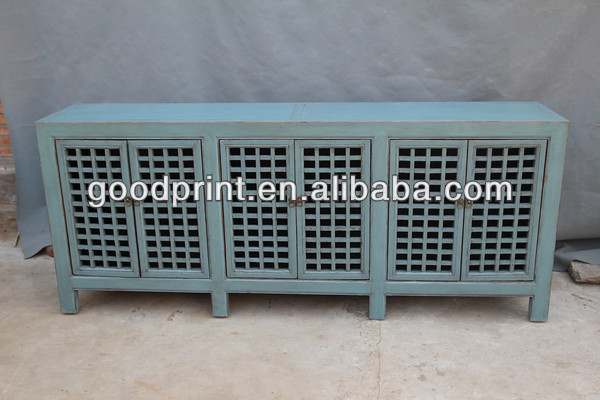 Chinese antique six door side cabinet