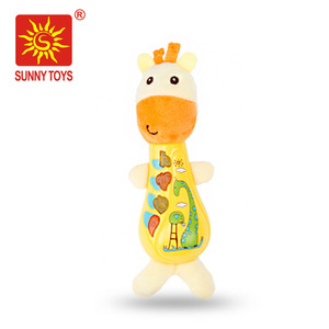 high quality lighting and musical cute giraffe stuffed toy