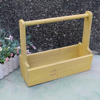 çiçek Kutusu Sarı Yıkanmış Boyama Ahşap Ekici Kutuları Sandık Buy