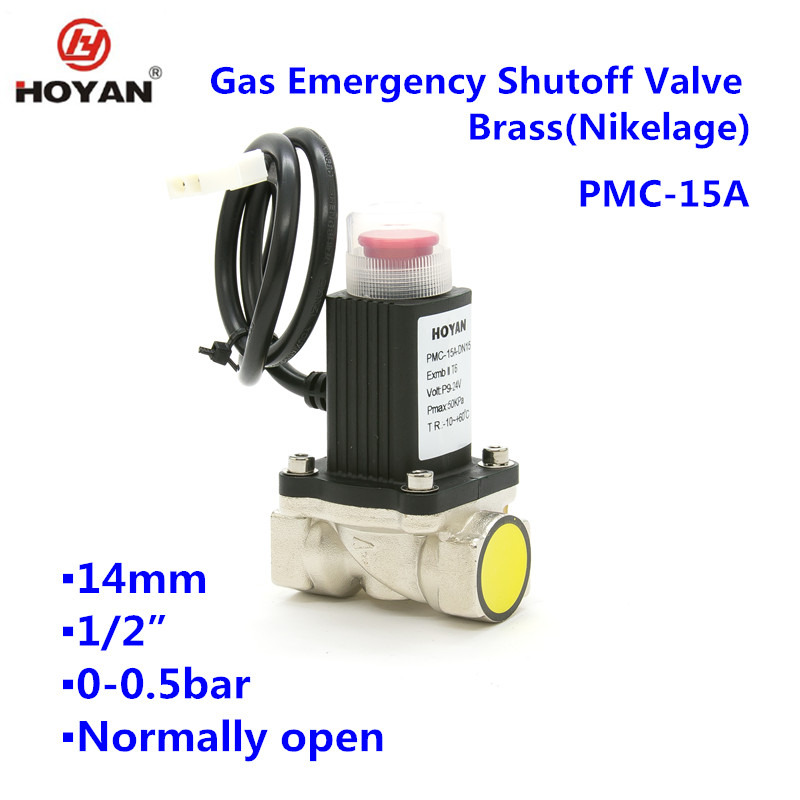 PMC-15A normal closed Gas Shutoff Brass(Nikelage)solenoid Valve