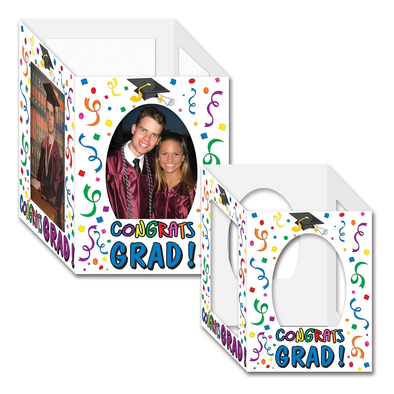 "Beistle 54128-MC Congrats Grad Photo Centerpieces, 6"" x 7.75"", 2 Centerpieces In Package"