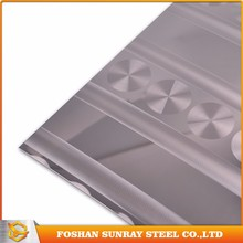 Foshan supplier laser finish sheet stainless steel prices made in china
