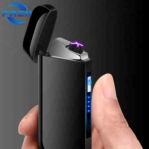 2018 Newest Novelty Electronic usb rechargeable cigarette lighter with Led signature and battery indication